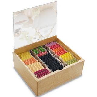 scatola di tisane in bustina